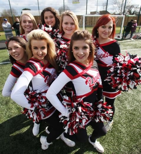 Solent Ravens Cheerleaders. Find out more about the team on our website: www.solent.ac.uk/cheerleading