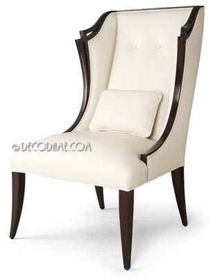 Rendezvous High Back Dining Chairs Or Occasional Chairs, Via  Www.decodame.com