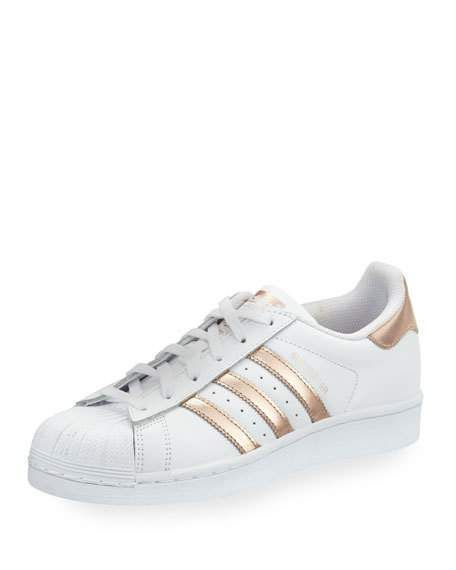 detailed look 0fc12 d5729  adidas  shoes Superstar Original Fashion Sneaker, White Rose Gold