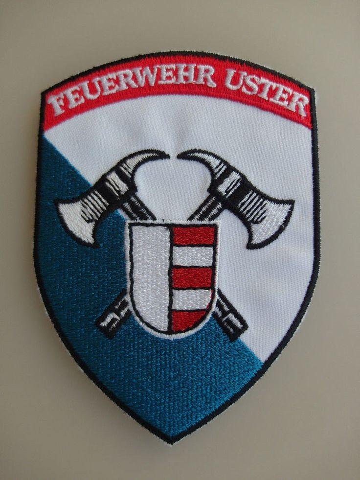 Patch Fire Department Feuerwehr Uster Switzerland Shoulder flashes New Original  | eBay