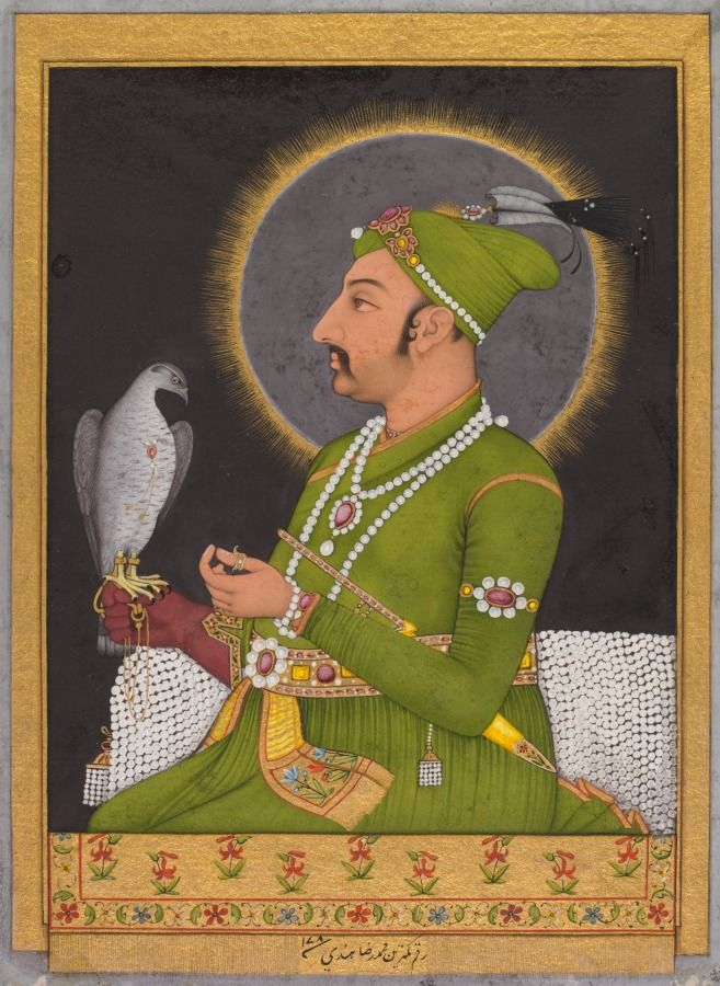 A Portrait of the Mughal Emperor Muhammad Shah (r. 1719-1748), 1764 | Cleveland Museum of Art