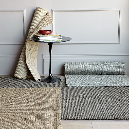 Jute Boucle Rug Clay West Elm