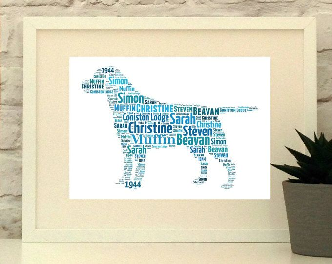 Personalised Labrador Dog Print A4 Unframed Print, custom pet portrait