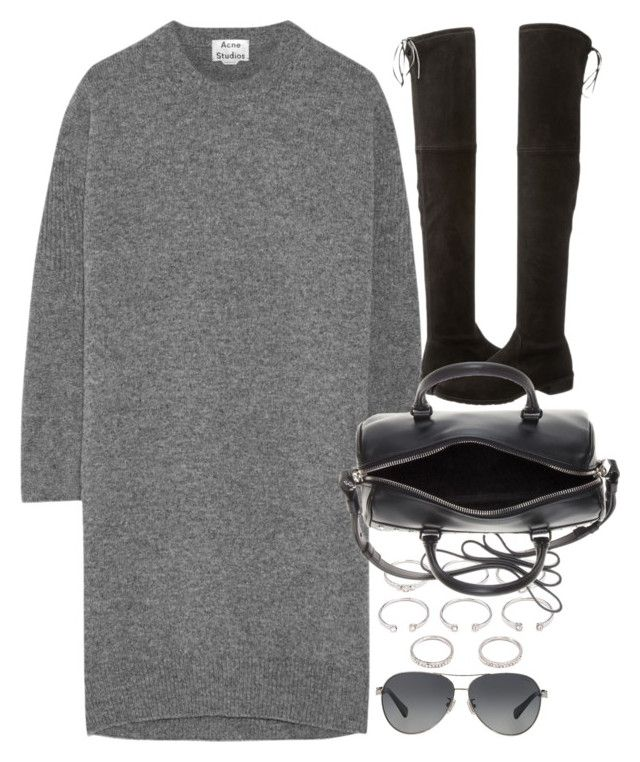 """""""Untitled #8135"""" by nikka-phillips ❤ liked on Polyvore featuring moda, Forever 21, Acne Studios, Stuart Weitzman, Yves Saint Laurent e Coach"""