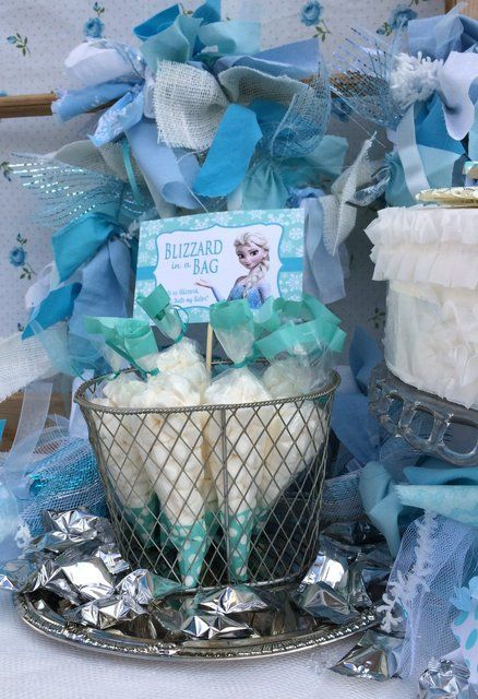 Disney Frozen Birthday Party Ideas!  See more party ideas at CatchMyParty.com!
