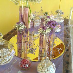 Confettata per sposi con fiori lilla