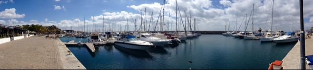 Puerto Calero Yacht Marina in Yaiza, Lanzarote