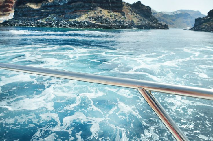 Sailing on Santorini's bluest blue!