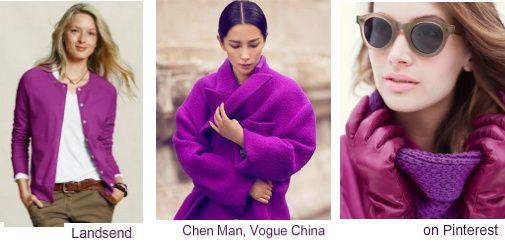 Levendig paarse kleding