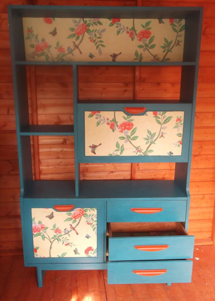 Bespoke teal 1970's wall unit, room divider with shelves, cupboard, drawers by Furniturefruit on Etsy https://www.etsy.com/listing/205530301/bespoke-teal-1970s-wall-unit-room