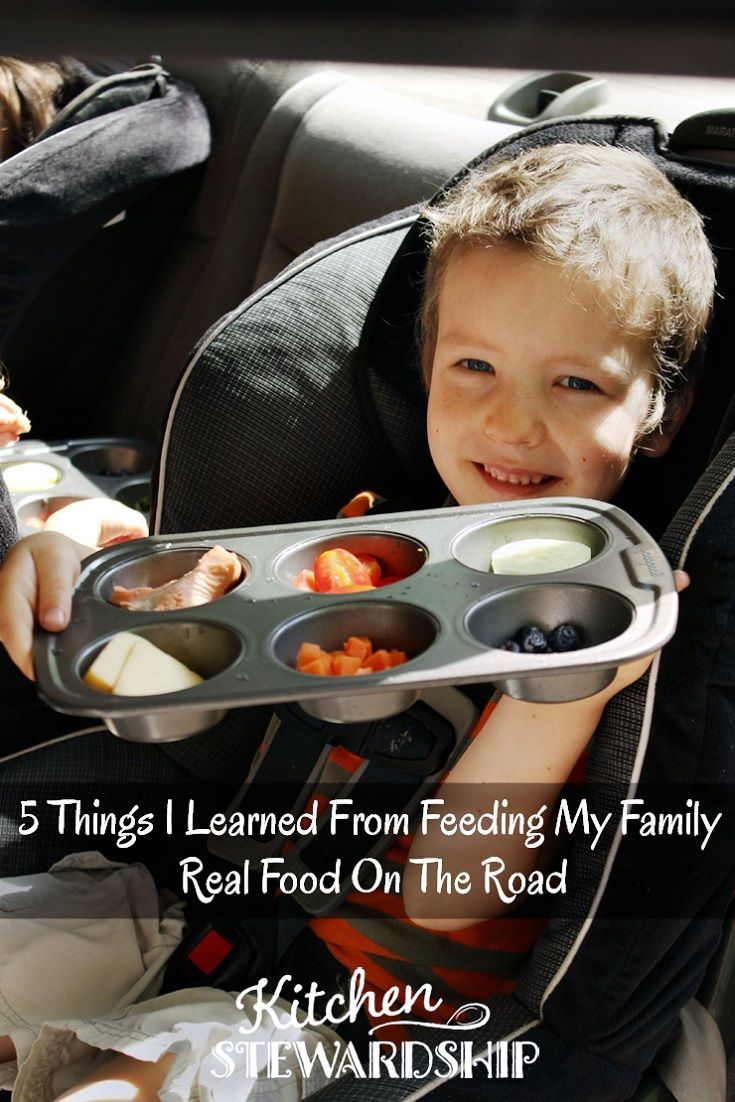 5 Things I Learned From Feeding My Family Real Food On The Road. Road trips don't have to mean fast food or snacks from the gas station. Deal with any special diet with these tips for taking real food on the road with you.