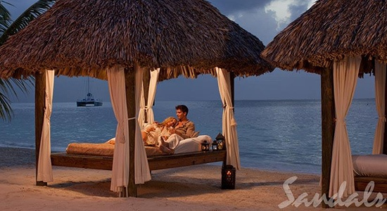 must have!: Jamaica Honeymoons, Sandals Montego Bays Jamaica, Jamaica Sandals, Thatched Roof, Montego Bayjamaica, Private Cabanas, Sandals Resorts, Beaches Vacations, Beaches Front