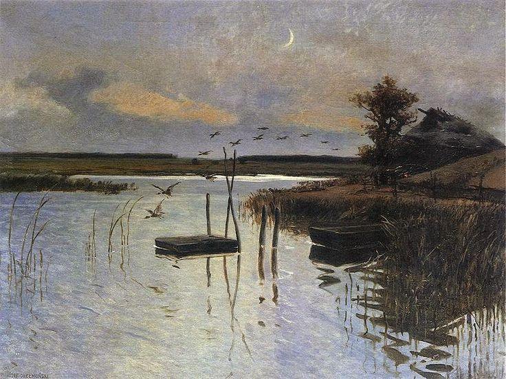 Le Prince Lointain: Józef Chełmoński (1849-1914), Kaczki nad wodą - 18...