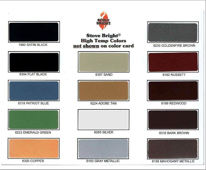 Paint Color Chart For Fire Safe Paint For Wood Stove Http