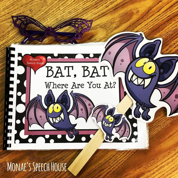 Let's get Batty for Halloween! This fun bat book and language packet is perfect for speech therapy, early childhood, autism, kindergarten, special education, and preschool. Speech therapists and teachers will love using this fun Halloween story for developing language skills (whole group, circle time, small group).