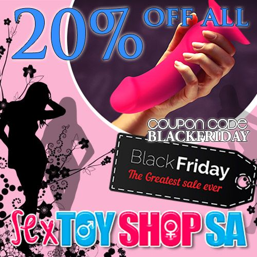 Don't forget to shop until you drop this Black Friday. 20% OFF EVERYTHING at Sex Toy Shop SA!  Don't Miss out