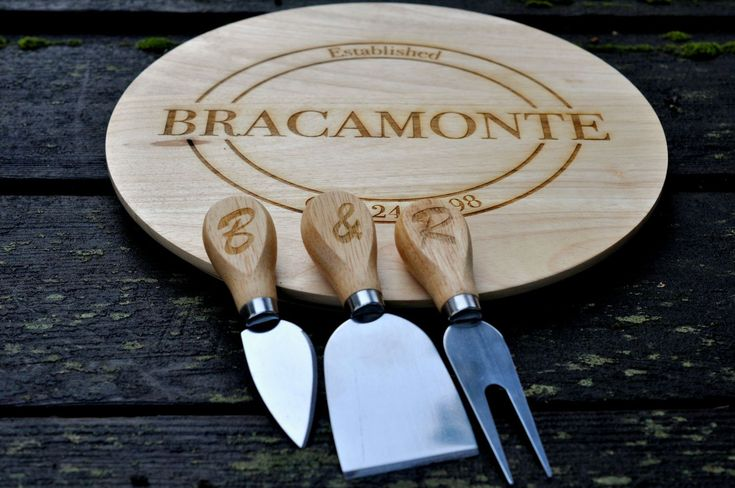 Personalized Cheese Board, Personalized Cutting Board Set, Custom Cheese Board, Cutting Board, Engraved Cheese Board, Custom cutting board by ReclaimedOregon on Etsy