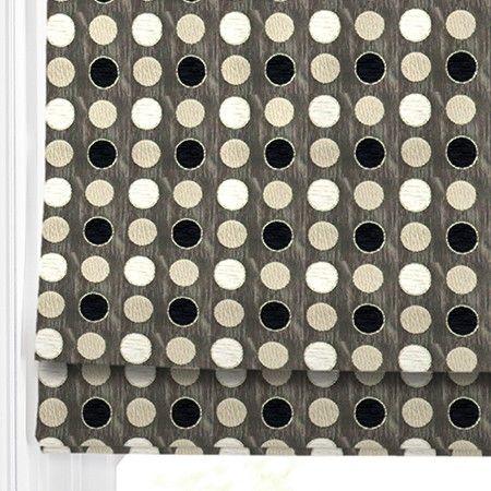 Chic Roman Blind design - Malham Spot.  #home decor #blinds #black #247