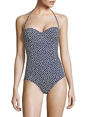 5c239ca633776 TORY BURCH ONE-PIECE NAUTICAL DOT BANDEAU SWIMSUIT.  toryburch  cloth