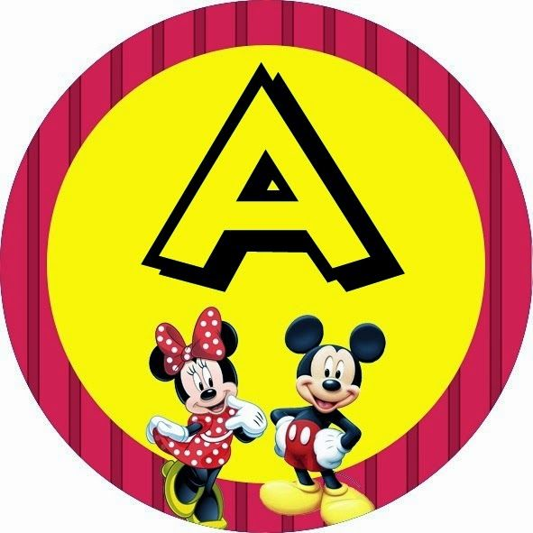 Alfabeto de Minnie y Mickey especial para Fiestas.