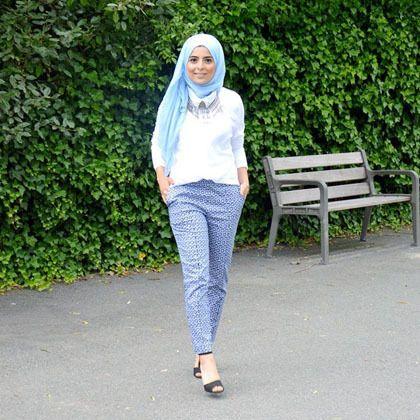 Hijab Style: Tampil Casual Ala Hijabers Asal Belgia, Sarah Dimani