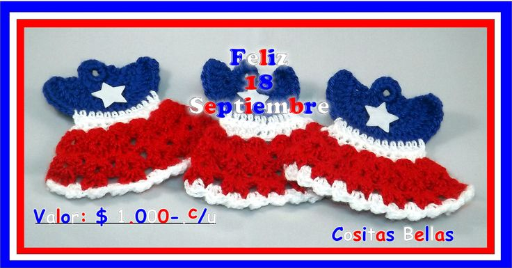 Banderita chilena como adorno para botellas. Cositas Bellas #cositasbellavalpo #valparaiso #chile