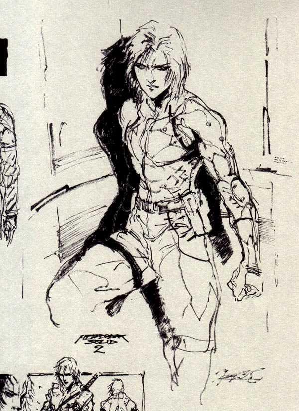 Metal Gear Solid 2 Raiden concept art.