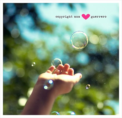 """""""Catch the bubble!"""" *EXPLORED!* by * Ana.Guerrero *, via Flickr"""