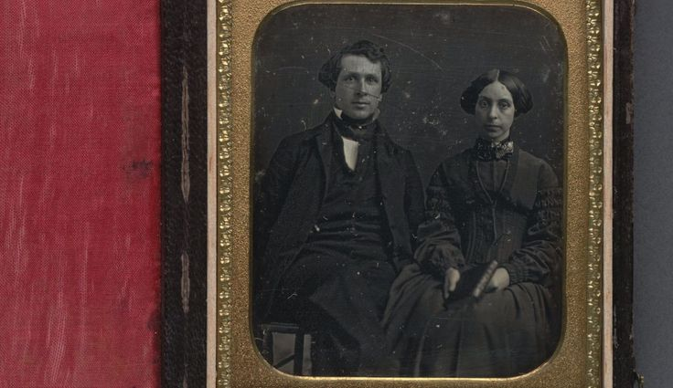 [Reverend Edward Brown Walsworth, founder of the Oakland College School, with wife Sarah. 1852