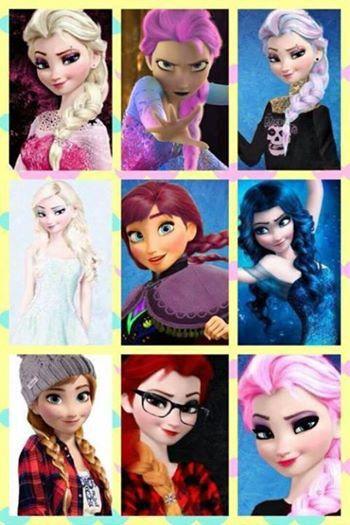 Frozen la reine des neiges elsa et anna disney - Raiponce la reine des neiges ...