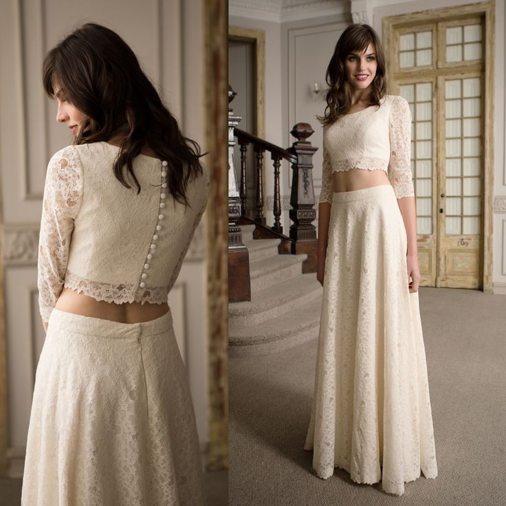 Vestido de novia manga 3/4 · 3/4 Sleeve Wedding Dresses