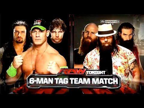 WWE - 2014 - Raw - John Cena, Dean Ambrose & Roman Reigns Vs The Wyatt F...