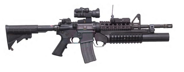 M4 Carbine with M203 Grenade Launcher by Official U.S. Air Force, via Flickr