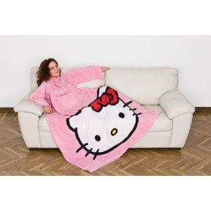 Kanguru HELLO KITTY © Special Edition Fleece Decke mit Brusttasche und Ärmeln Farbe rosa Größe 140 x 180 cm Kuscheldecke Sofadecke Ärmeldecke: Amazon.de: Küche & Haushalt