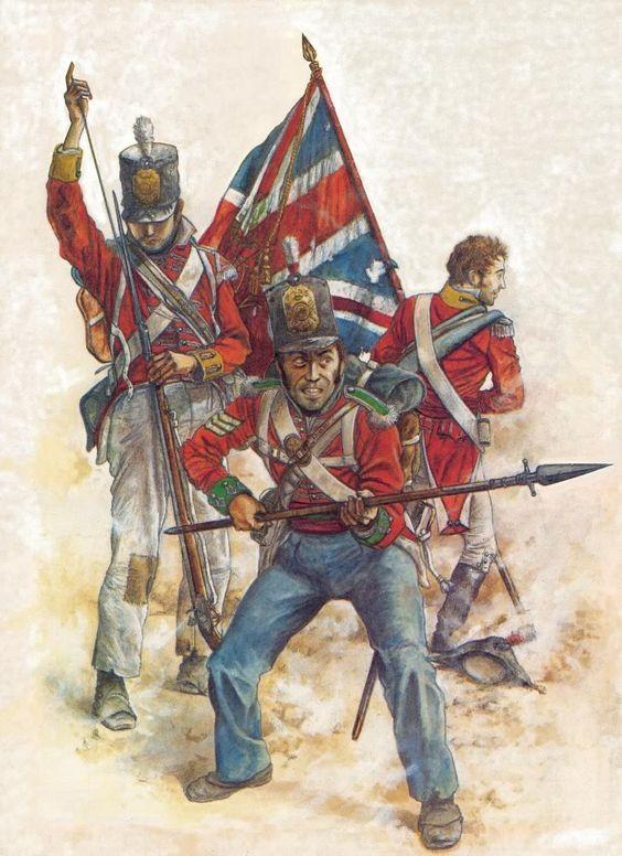 """1) Рядовой 88-го Пехотного Полка """"Рейнджеры Конахта"""" (88th Regiment of Foot (Connaught Rangers)) 2) Сержант 45-го Пехотного Полка """"1-й Ноттингемширский"""" (45th (1st Nottinghamshire) Regiment of Foot) 3) Офицер 28-го Пехотного Полка """"Северный Глостерширский"""" (28th (North Gloucestershire) Regiment of Foot)"""
