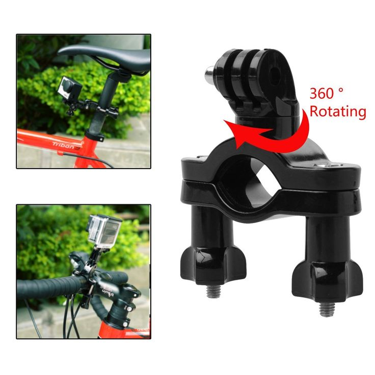 MustMax(TM) 360 Degree Rotation Swivel Handle Bar Motorcycle Bicycle Bike Holder Set for GoPro HD Hero 2 3 3  4 OS202 >>> You can find more details by visiting the image link.