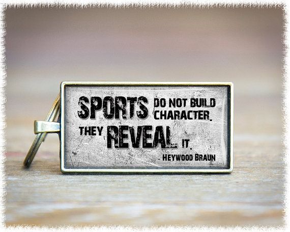 Sports Quote Keychain  Coach Appreciation Gift  by SuedeSentiment