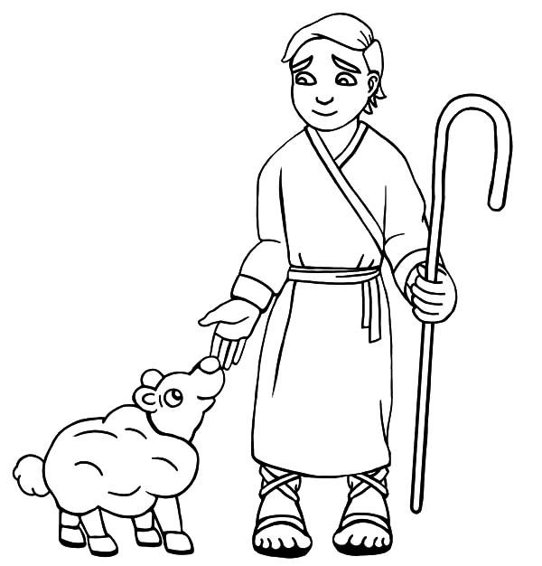 David The Shepherd Boy David The Shepherd Boy Take Care His Sheep With Love Coloring Pages Love Coloring Pages Sunday School Coloring Pages Coloring Pages
