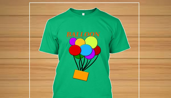 Camiseta estampa original tema balloon