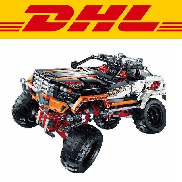 101.69$  Buy here - http://alic09.worldwells.pw/go.php?t=32784697245 - 2016 New LEPIN 20014 1386Pcs Technic Series 4X4 Crawler Vehicles Model Building Kit toy Blocks Bricks Compatible Toy 9398