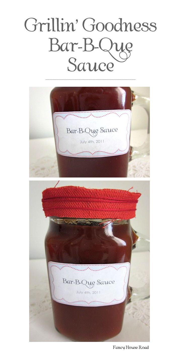 Grillin' Goodness Bar-B-Que Sauce Recipe (and a July 4th Party Printable)