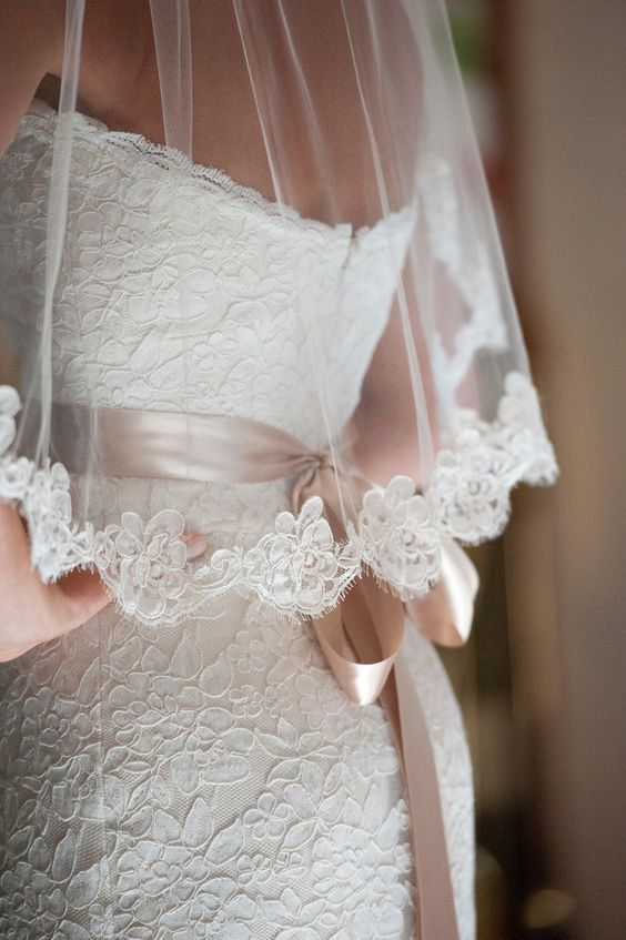 Blush pink belt?                                         inexpensive wedding veils