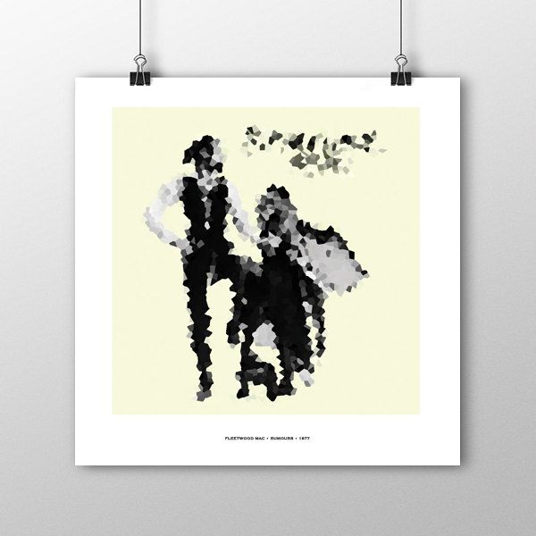 Fleetwood Mac Rumours album cover print Mosaic Style Pixelated Colour Print Abstract