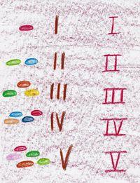 Waldorf ~ 1st grade ~ Math ~ Roman Numerals ~ main lesson book