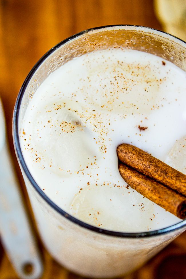 Vanilla Bean Horchata from The Food Charlatan // A creamy beverage made from rice and spiced with cinnamon and vanilla. Sounds weird, but I swear it's delicious, especially when paired with spicy Mexican food!