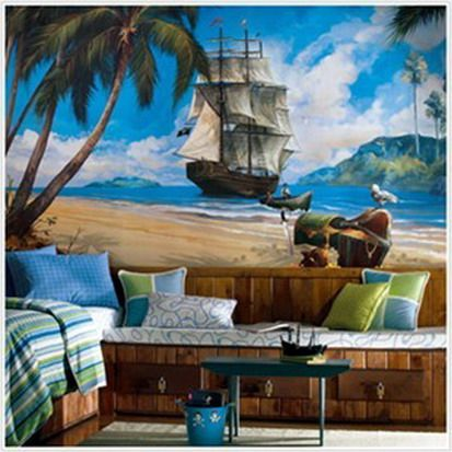 pirate bedroom decorating ideas pirate murals boys bedrooms pirate theme nautical boat beds pirates exotic tropical treasure island pirate ship