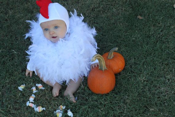 baby Halloween Costume Little Chicken Toddler by UpsideDownFrowns, $80.00