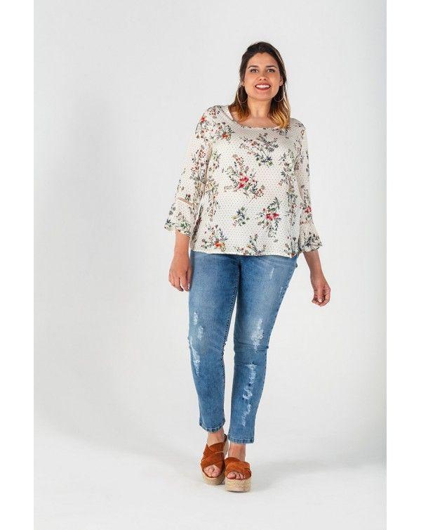 9517b67814802 Blusa de mujer con estampados nueva colección en talla grande