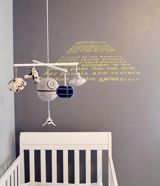 The perfect baby carousel! Star Wars baby room #StarWars #baby #nursery