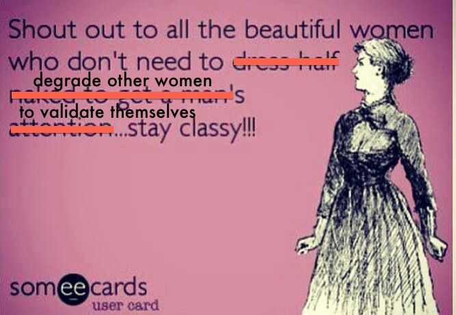 Fixed! Also, anyone who actually uses the word 'classy' in this way isn't -er- classy, because being judgemental and status obsessed is the exact opposite of classy. Just sayin'.
